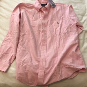 Pink polo brand button up never worn